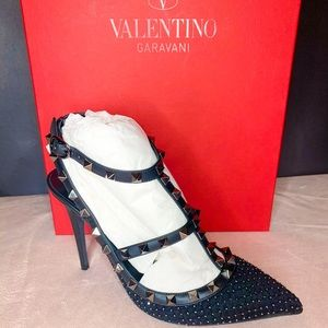 Valentino Quilted Rockstud T Strap